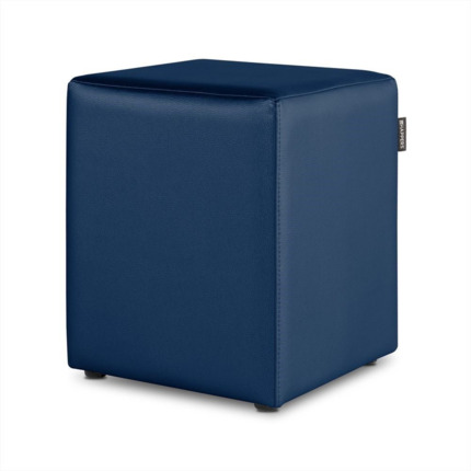 Puff Cubo Polipiel Indoor Azul Happers | Happers.es