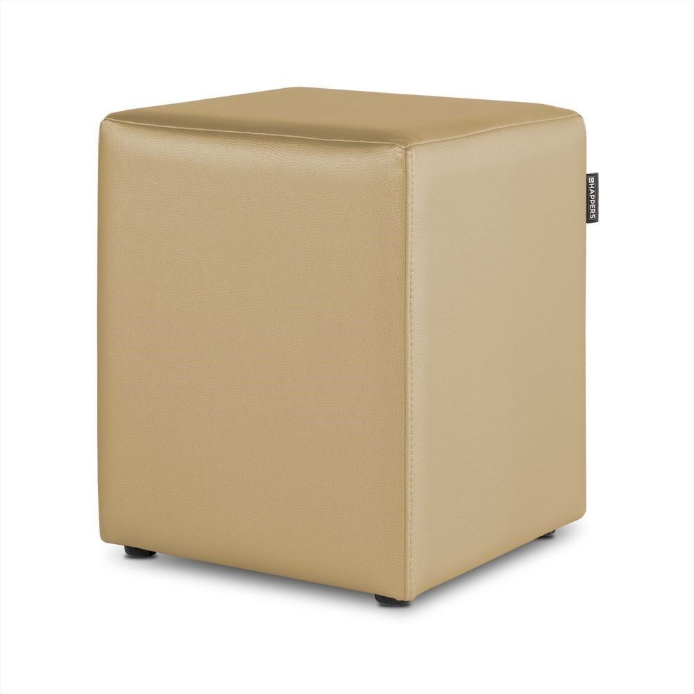 Puff Cubo Polipiel Indoor Beige Happers