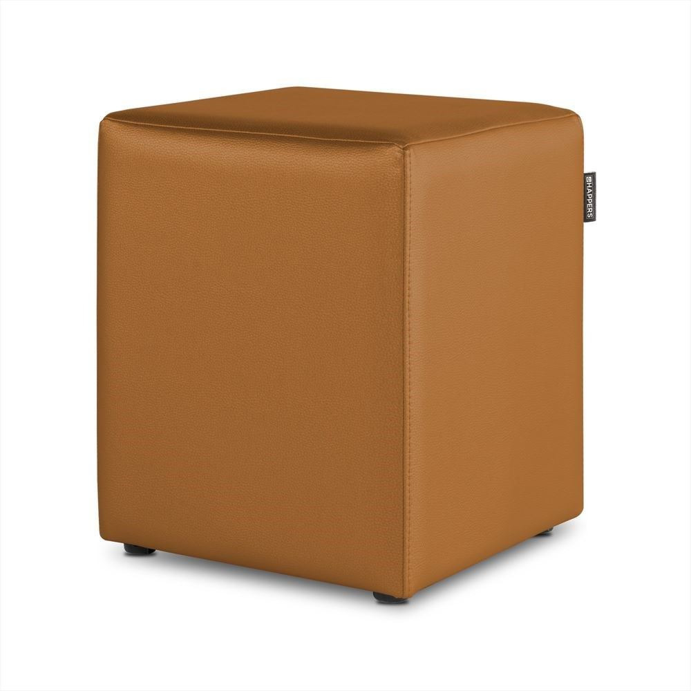 Puff Cubo Polipiel Indoor Camel Happers