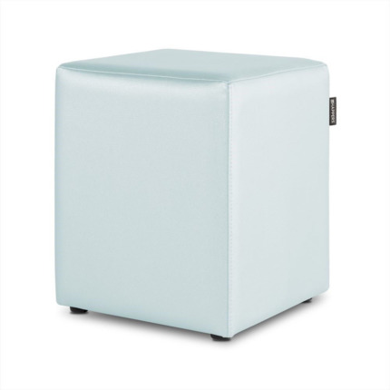 Puff Cubo Polipiel Indoor Celeste Happers | Happers.es