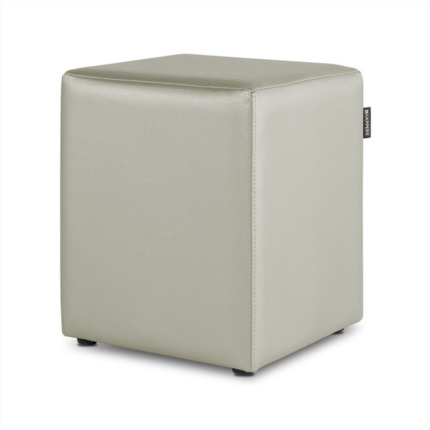 Puff Cubo Polipiel Indoor Ceniza Happers | Happers.es