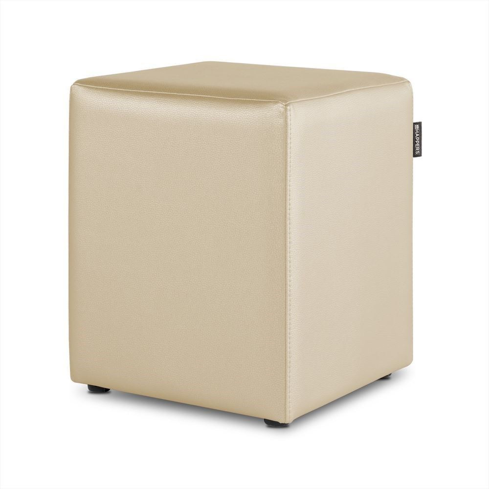 Puff Cubo Polipiel Indoor Crudo Happers