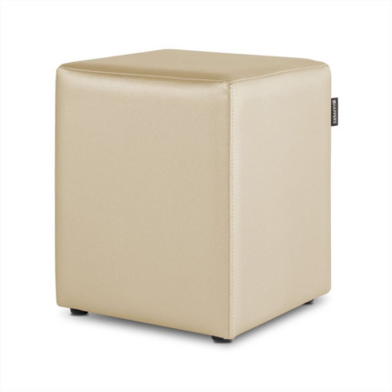 Puff Cubo Polipiel Indoor Crudo Happers | Happers.es
