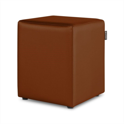Puff Cubo Polipiel Indoor Cuero Happers | Happers.es