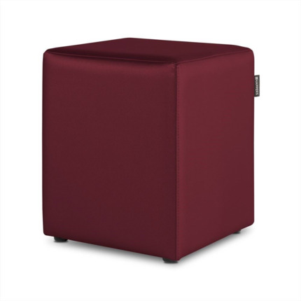 Puff Cubo Polipiel Indoor Granate Happers | Happers.es
