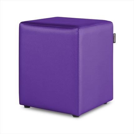 Puff Cubo Polipiel Indoor Lila Happers | Happers.es