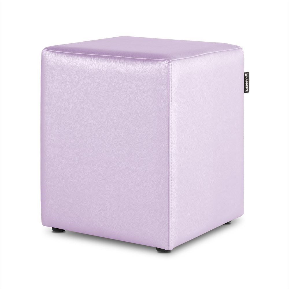 Puff Cubo Polipiel Indoor Malva Happers