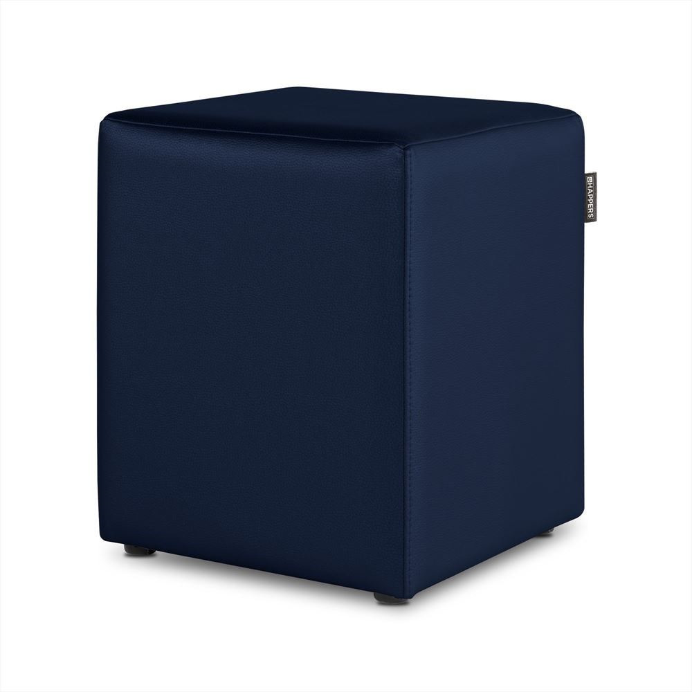 Puff Cubo Polipiel Indoor Marino Happers