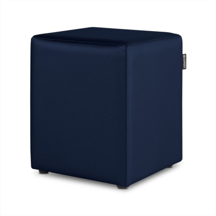 Puff Cubo Polipiel Indoor Marino Happers | Happers.es