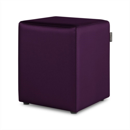 Puff Cubo Polipiel Indoor Morado Happers | Happers.es
