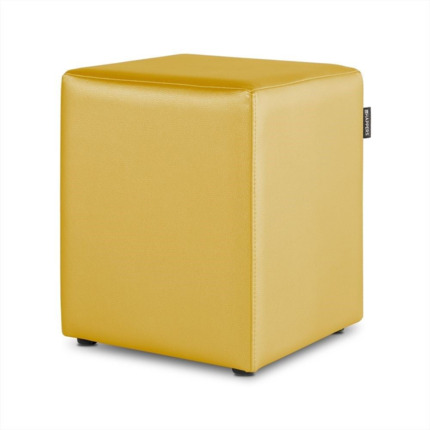 Puff Cubo Polipiel Indoor Mostaza Happers | Happers.es