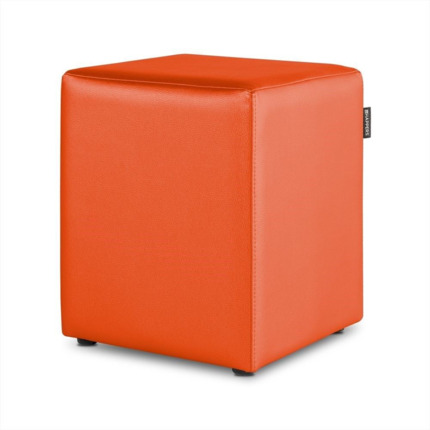 Puff Cubo Polipiel Indoor Naranja Happers | Happers.es