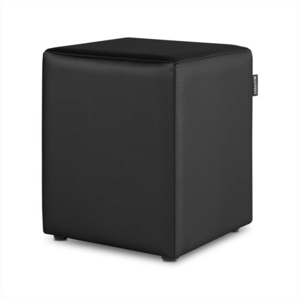 Puff Cubo Polipiel Indoor Negro Happers | Happers.es