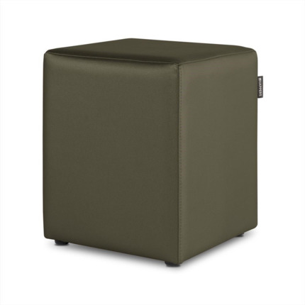 Puff Cubo Polipiel Indoor Taupe Happers | Happers.es