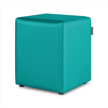 Puff Cubo Polipiel Indoor Turquesa Happers | Happers.es