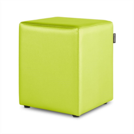 Puff Cubo Polipiel Indoor Verde Happers | Happers.es