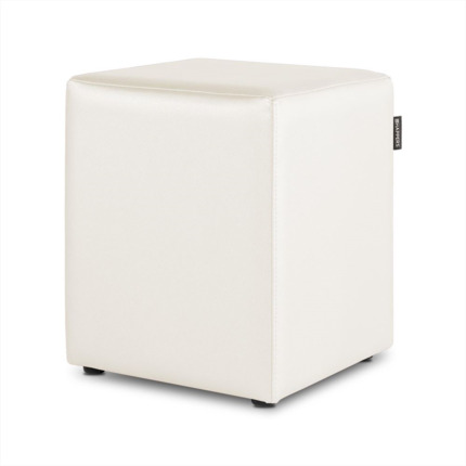 Puff Cubo Polipiel Outdoor Blanco Happers | Happers.es