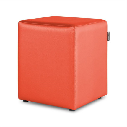 Puff Cubo Polipiel Outdoor Naranja Happers | Happers.es