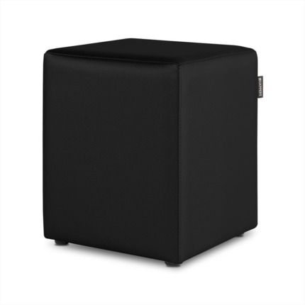 Puff Cubo Polipiel Outdoor Negro Happers | Happers.es