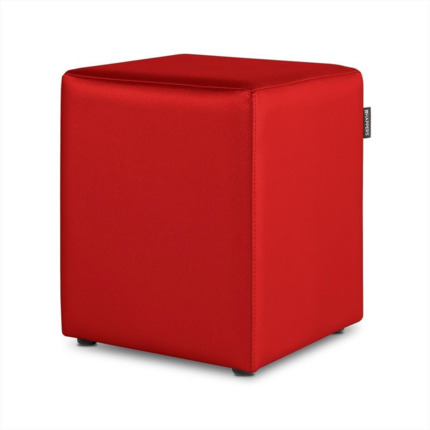 Puff Cubo Polipiel Outdoor Rojo Happers | Happers.es