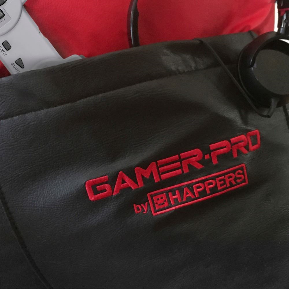 Puff GAMER Pirámide Polipiel Indoor Rojo (2)