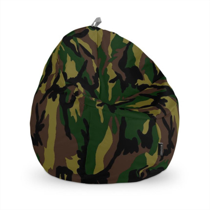 Puff Junior Estampado Camuflaje Verde Happers | Happers.es