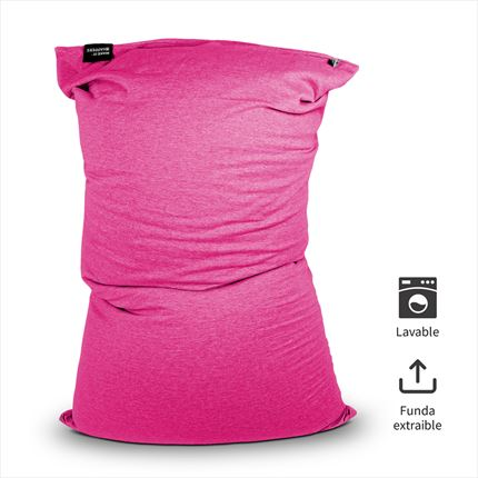 Puff Lavable Longo Fucsia Happers | Happers.es