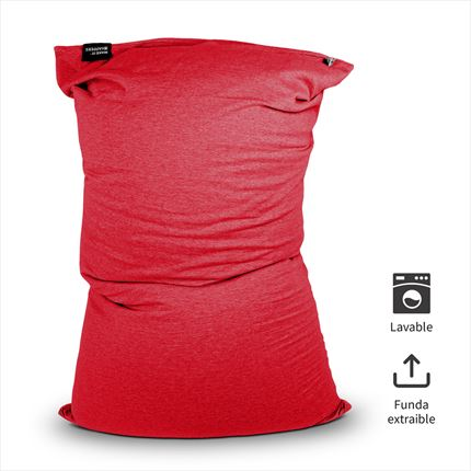 Puff Lavable Longo Rojo Happers | Happers.es