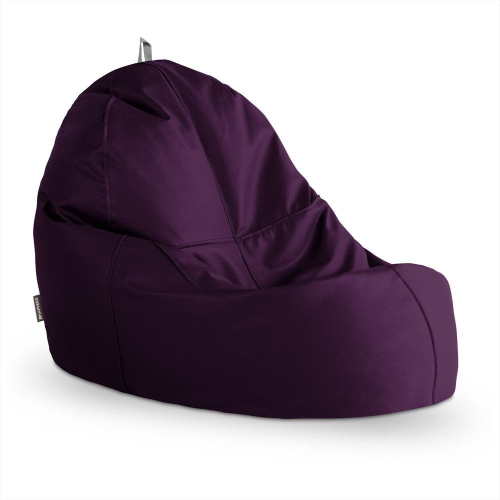 Puff Lounge Polipiel Indoor Morado Happers