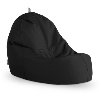 Puff Lounge Polipiel Indoor Negro Happers | Happers.es