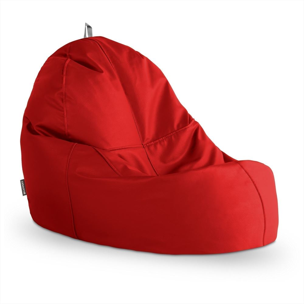 Puff Lounge Polipiel Outdoor Rojo Happers