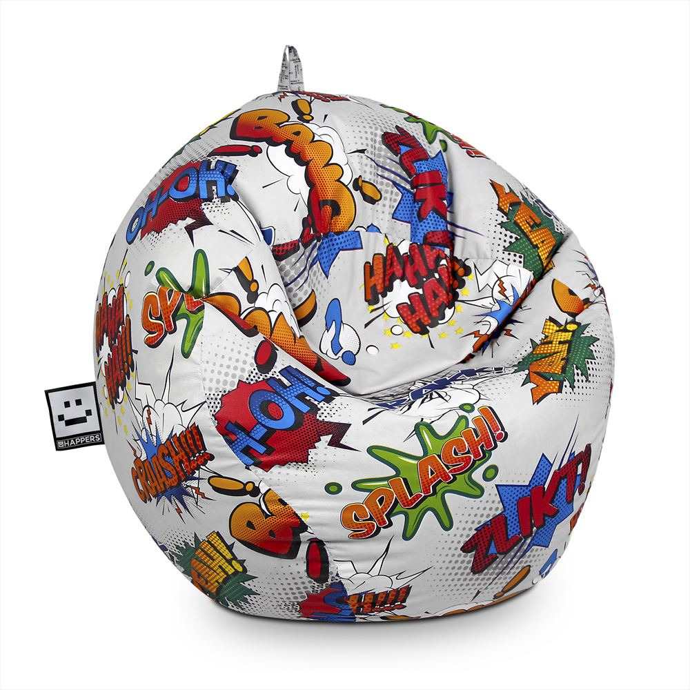 Puff Pelota Estampado Comic Happers