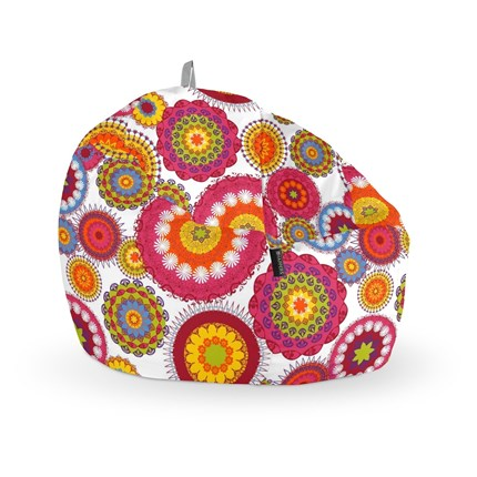 Puff Pelota Estampado Flower Happers | Happers.es