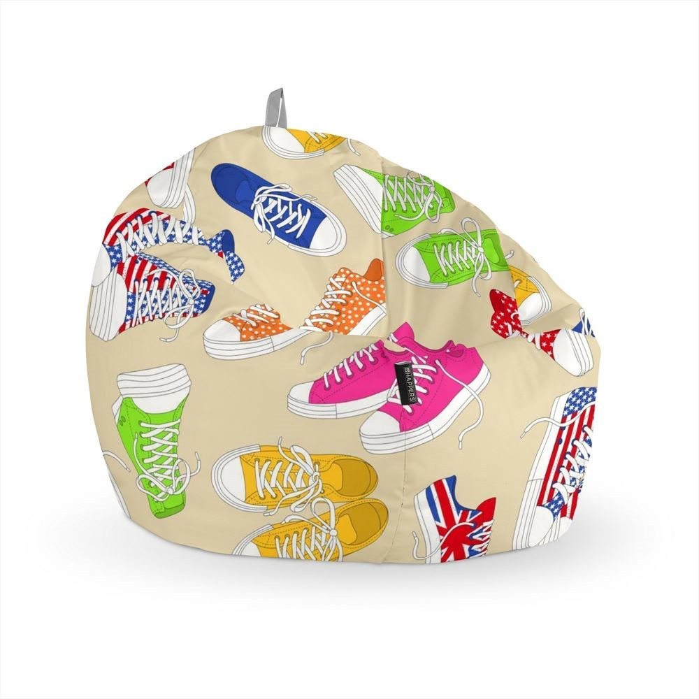 Puff Pelota Estampado Zapatillas Happers