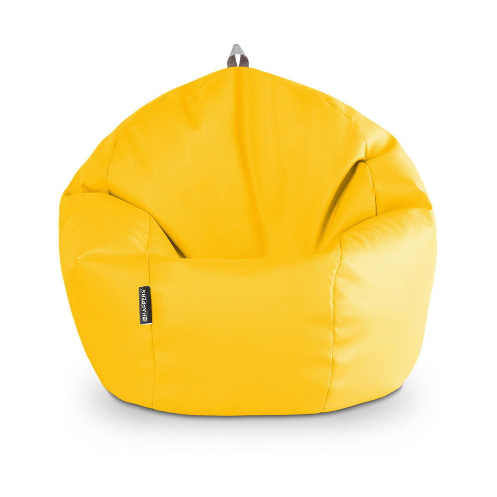 Puff Pelota Polipiel Indoor Amarillo Happers