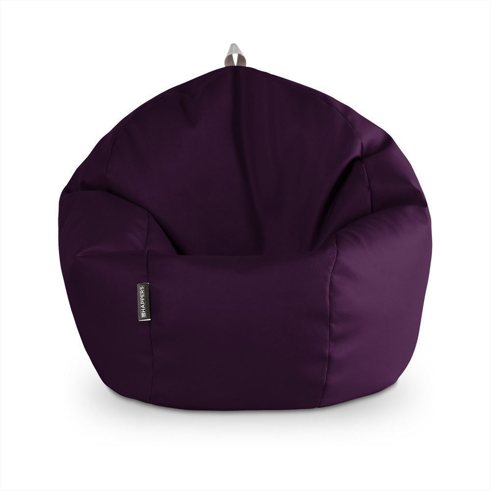 Puff Pelota Polipiel Indoor Morado Happers