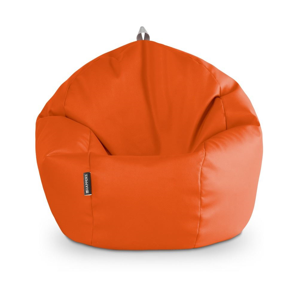 Puff Pelota Polipiel Indoor Naranja Happers