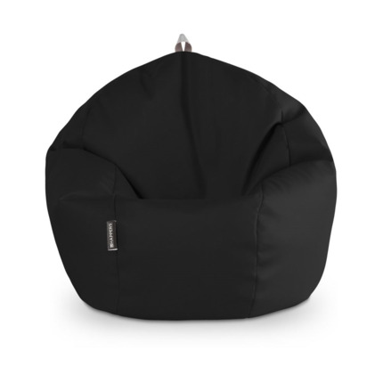 Puff Pelota Polipiel Indoor Negro Happers | Happers.es