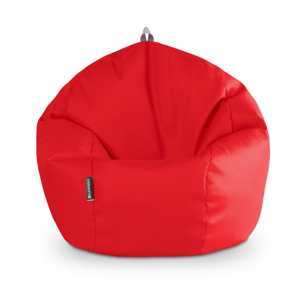 Puff Pelota Polipiel Indoor Rojo Happers