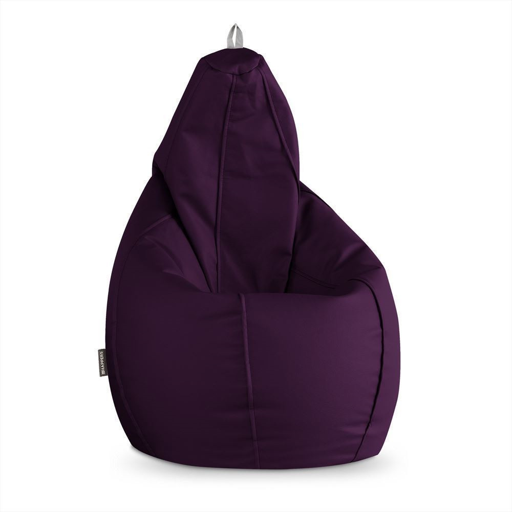 Puff Pera Polipiel Indoor Morado Happers