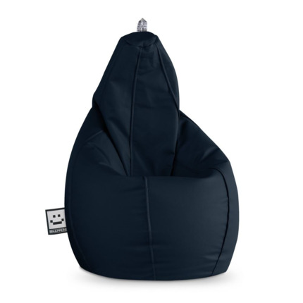 Puff Pera Polipiel Outdoor Azul Oscuro Happers | Happers.es