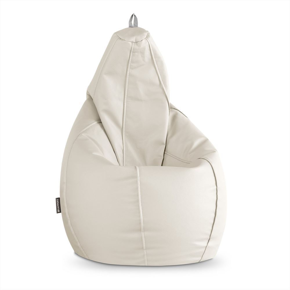 Puff Pera Polipiel Outdoor Blanco Happers