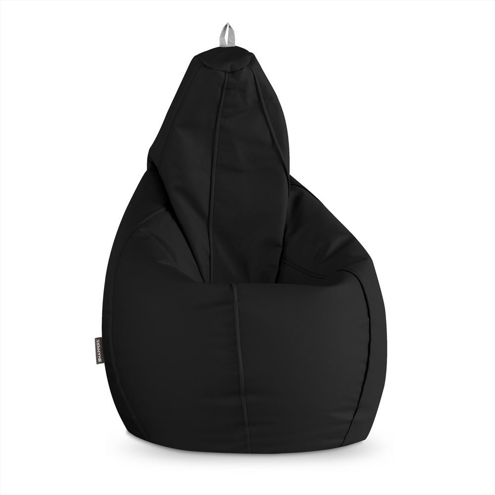 Puff Pera Polipiel Outdoor Negro Happers