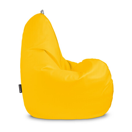 Puff Pera Relax Polipiel Indoor Amarillo Happers | Happers.es