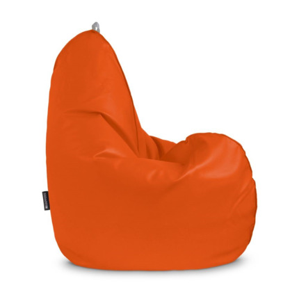 Puff Pera Relax Polipiel Indoor Naranja Happers | Happers.es