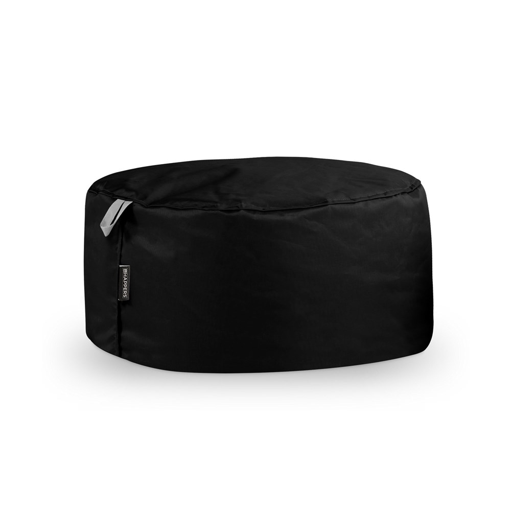 Puff Redondo Naylim Impermeable Negro Happers