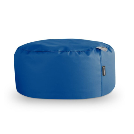 Puff Redondo Polipiel Indoor Azul Happers | Happers.es