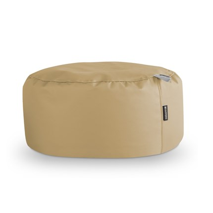 Puff Redondo Polipiel Indoor Beige Happers | Happers.es