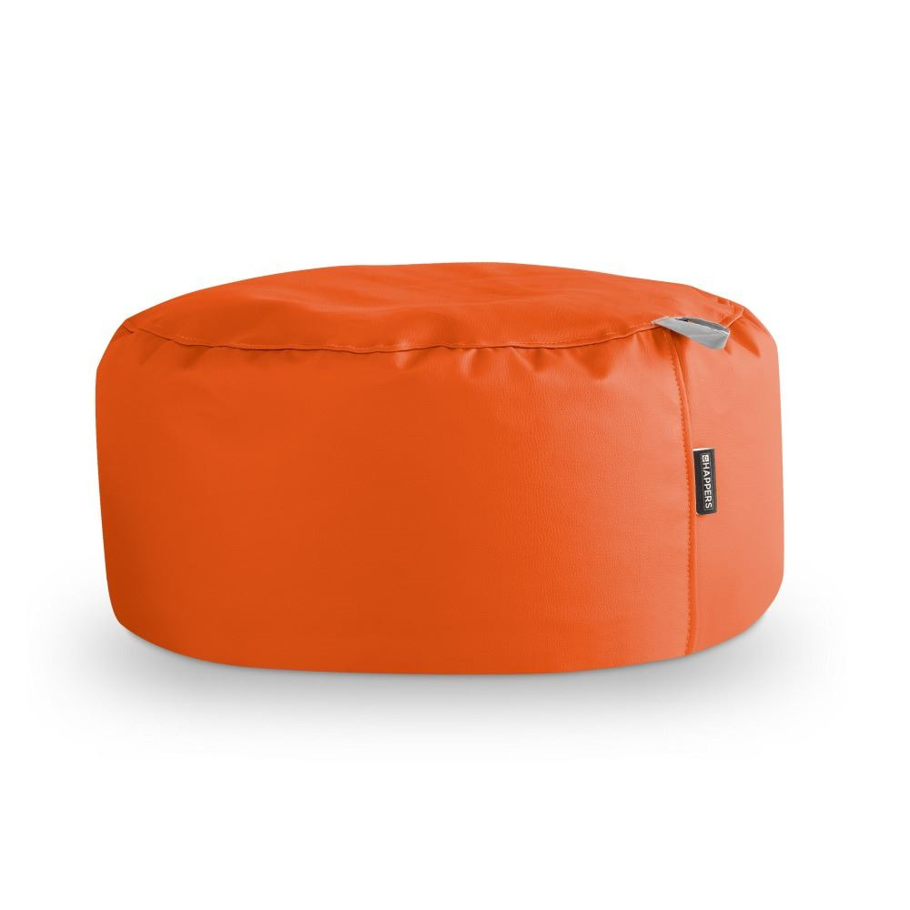 Puff Redondo Polipiel Indoor Naranja Happers