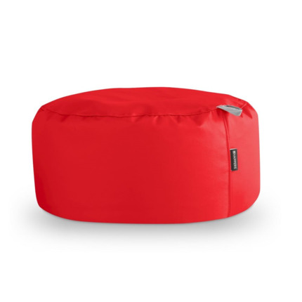 Puff Redondo Polipiel Indoor Rojo Happers | Happers.es